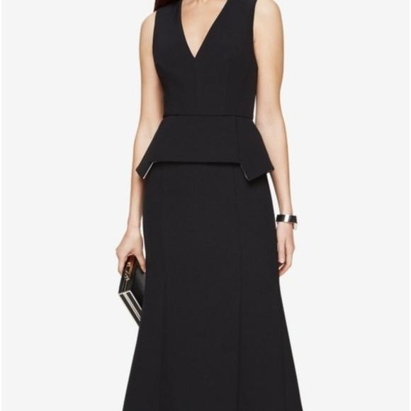 BCBGMaxAzria Dresses & Skirts - BCBG MAXAZRIA BLACK ALEJANDRA  PEPLUM GOWN